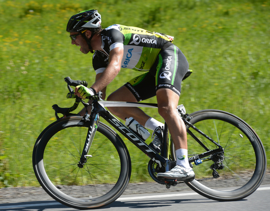 Albisini alone, on the way to win