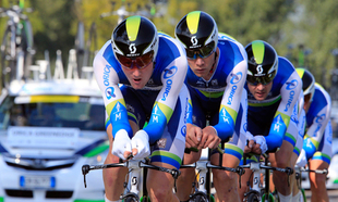 ORICA-GreenEDGE performed the Team Time Trial