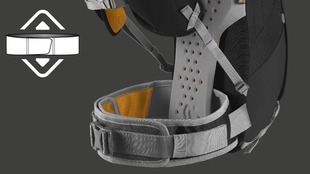 Adjustable Height hipbelt