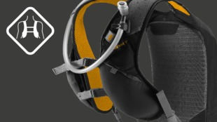 Trail-running inspired ergonomic shape