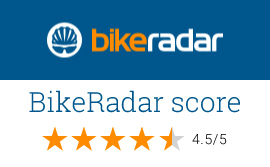 BikeRadar logo Test Award - Score 4.5 on 5