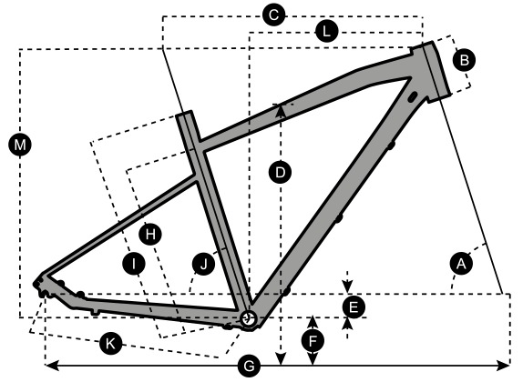 Geometry of SCOTT Sub Cross 30 Men Bike