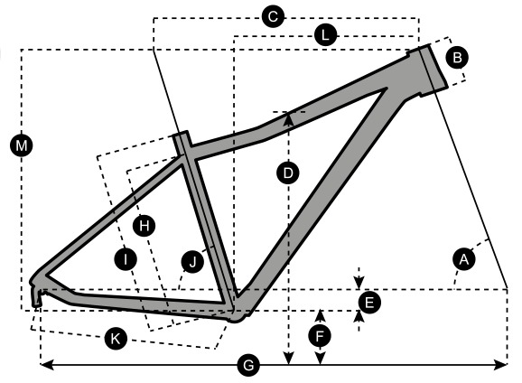 Geometry of Vélo SCOTT Contessa Scale 40