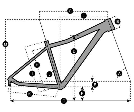 Geometry of Vélo SCOTT Contessa Scale 740