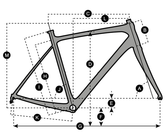 Geometry of Bicicletta SCOTT Contessa Solace 25 Disc
