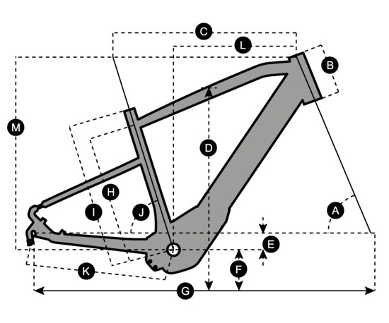 Geometry of Vélo SCOTT E-Silence 10