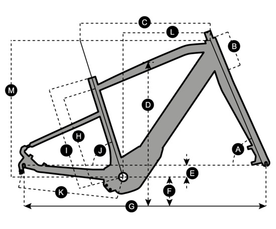 Geometry of Vélo SCOTT E-Silence Evo