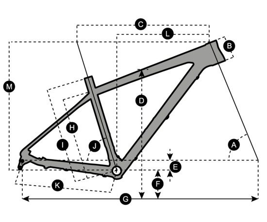 Geometry of Bicicletta SCOTT Scale 720 Plus