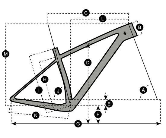 Geometry of Bicicletta SCOTT Scale RC 900 World Cup