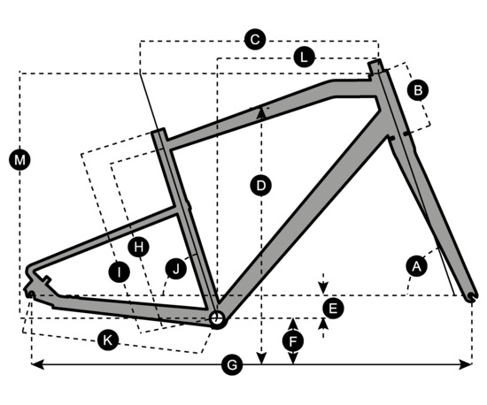 Geometry of Vélo SCOTT Silence 20 Men