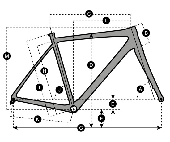 Geometry of SCOTT Speedster CX 20 Disc Bike