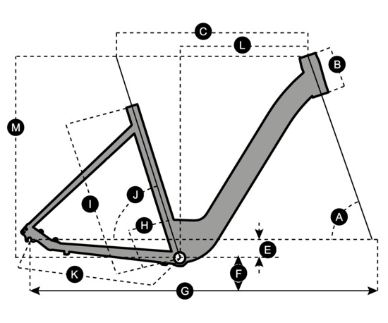 Geometry of Vélo SCOTT Sub Comfort 10 unisexe