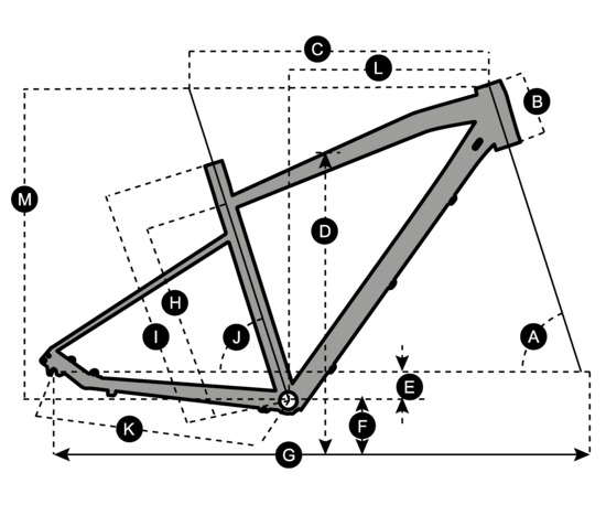 Geometry of SCOTT Sub Cross 20 Men Bike