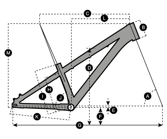 Geometry of Vélo SCOTT Voltage YZ 0.1