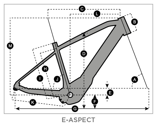 Geometry of Bicicleta SCOTT E-Aspect 20