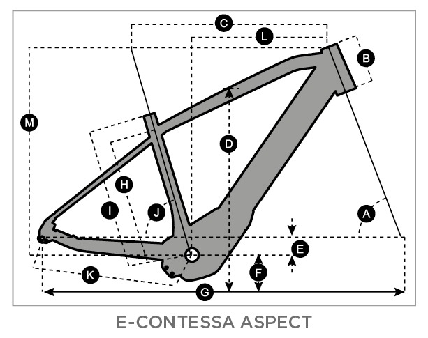 Geometry of Bicicletta SCOTT E-Contessa Aspect 20