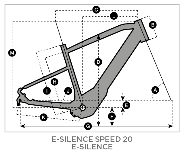 Geometry of SCOTT E-Silence 20 Men's Bike