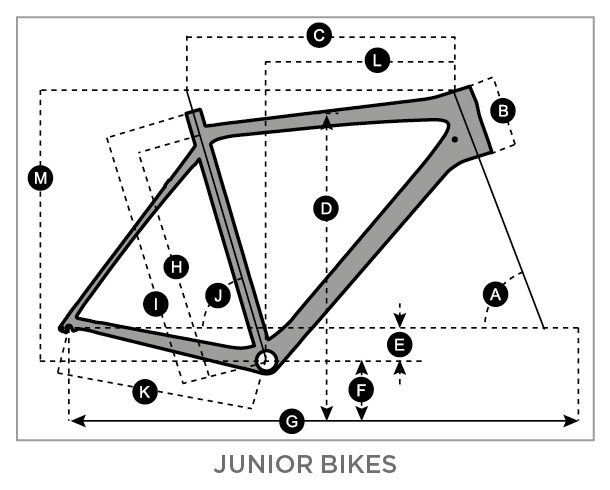Geometry of SCOTT Contessa JR 16 Bike