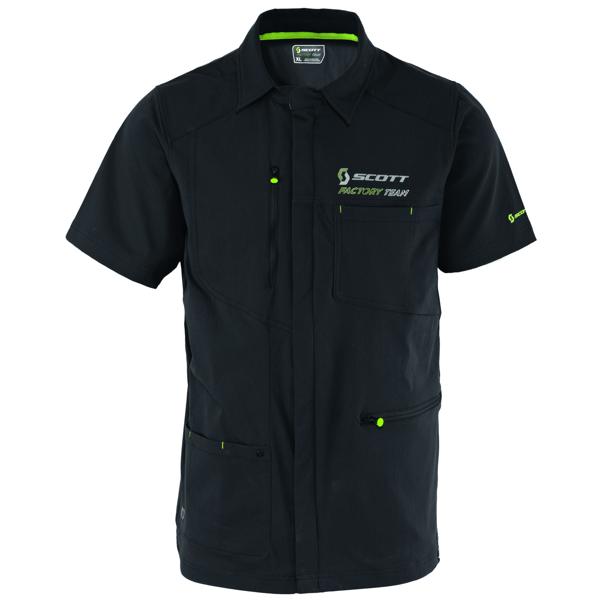SCOTT FACTORY TEAM S/SL ZIP SHIRT