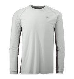 OR Men's Echo L/S Duo Tee white/pewter