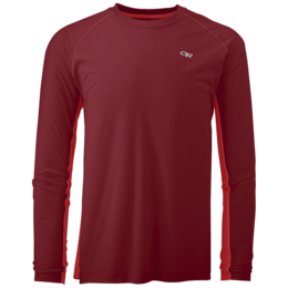 OR Men's Echo L/S Duo Tee redwood/hot sauce