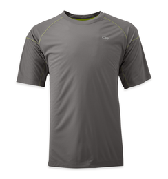 OR Men's Echo Tee pewter/lemongrass