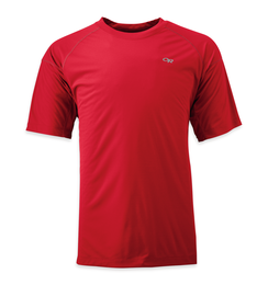 OR Men's Echo Tee hot sauce/redwood