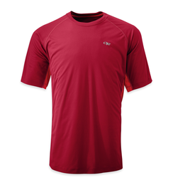 OR Men's Echo Duo Tee redwood/hot sauce