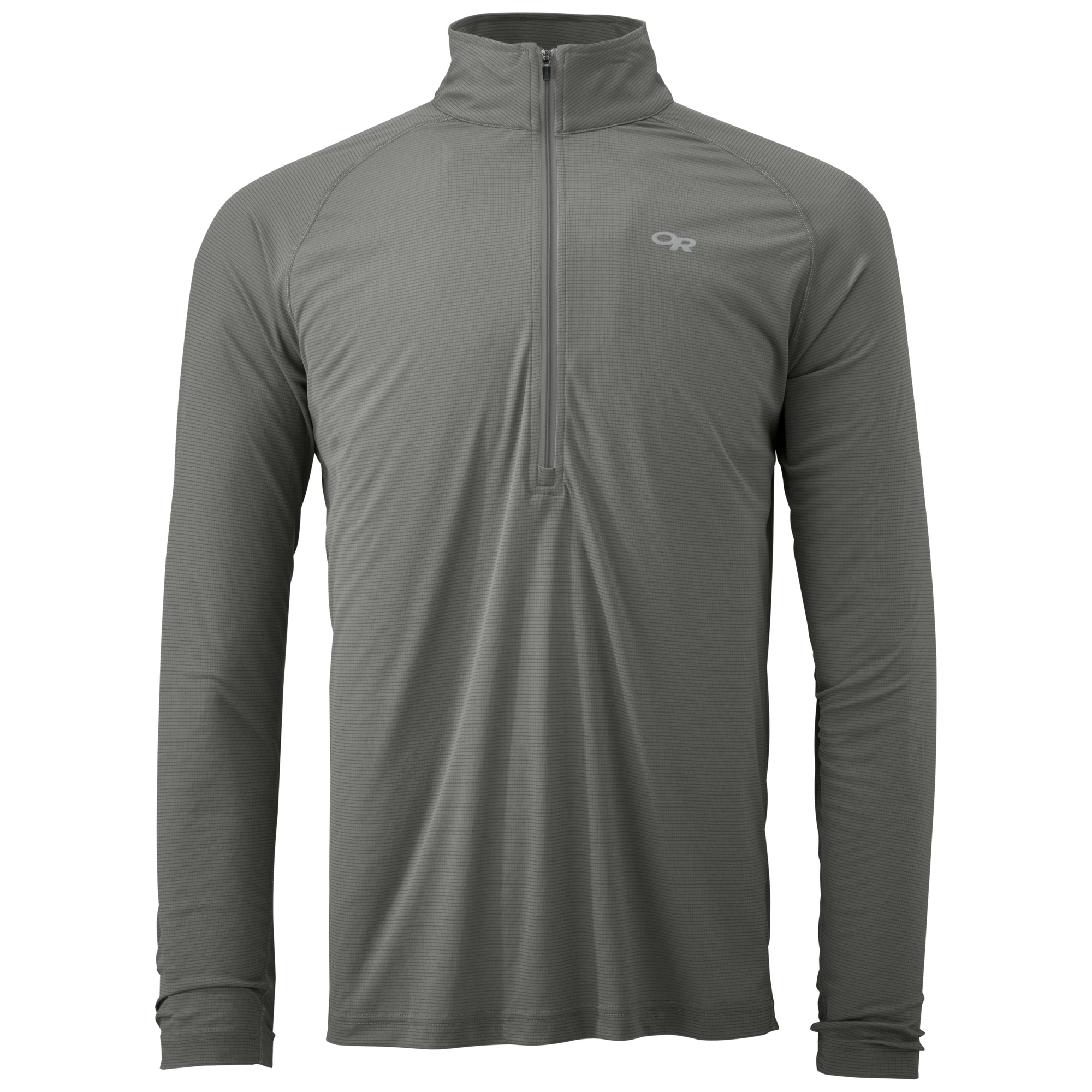 3e203326a9bb8 Men's Echo L/S Zip Tee - pewter/charcoal | Outdoor Research