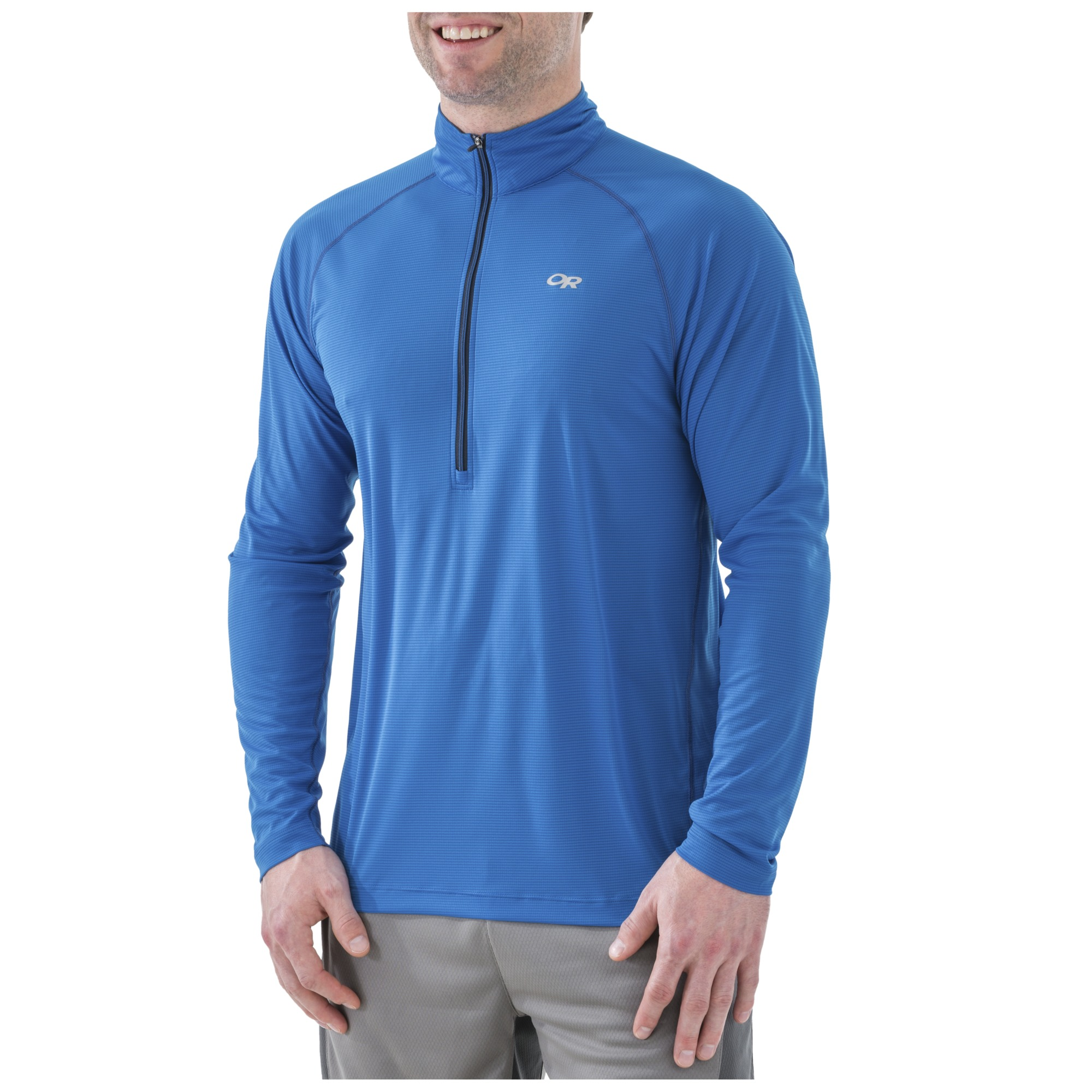 2439d9eb6f3ec Men's Echo L/S Zip Tee - jolt/pewter | Outdoor Research