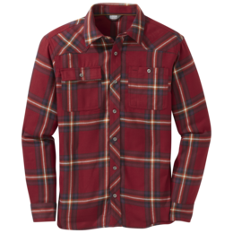 OR Men's Feedback Flannel Shirt firebrick plaid
