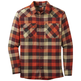 OR Men's Feedback Flannel Shirt paprika plaid