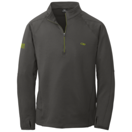 OR Men's Radiant LT Zip Top charcoal/lemongrass