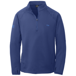 OR Men's Radiant LT Zip Top baltic/glacier