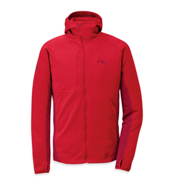 OR Men's Radiant Hybrid Hoody hot sauce/redwood