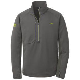 OR Men's Radiant Hybrid Pullover charcoal/lemongrass