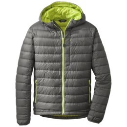 OR Men's Transcendent Down Hoody pewter/lemongrass
