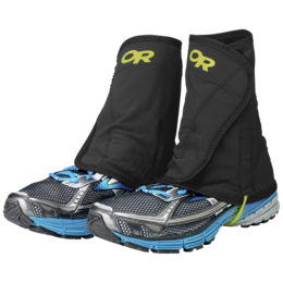 OR Men's Wrapid Gaiters black/lemongrass