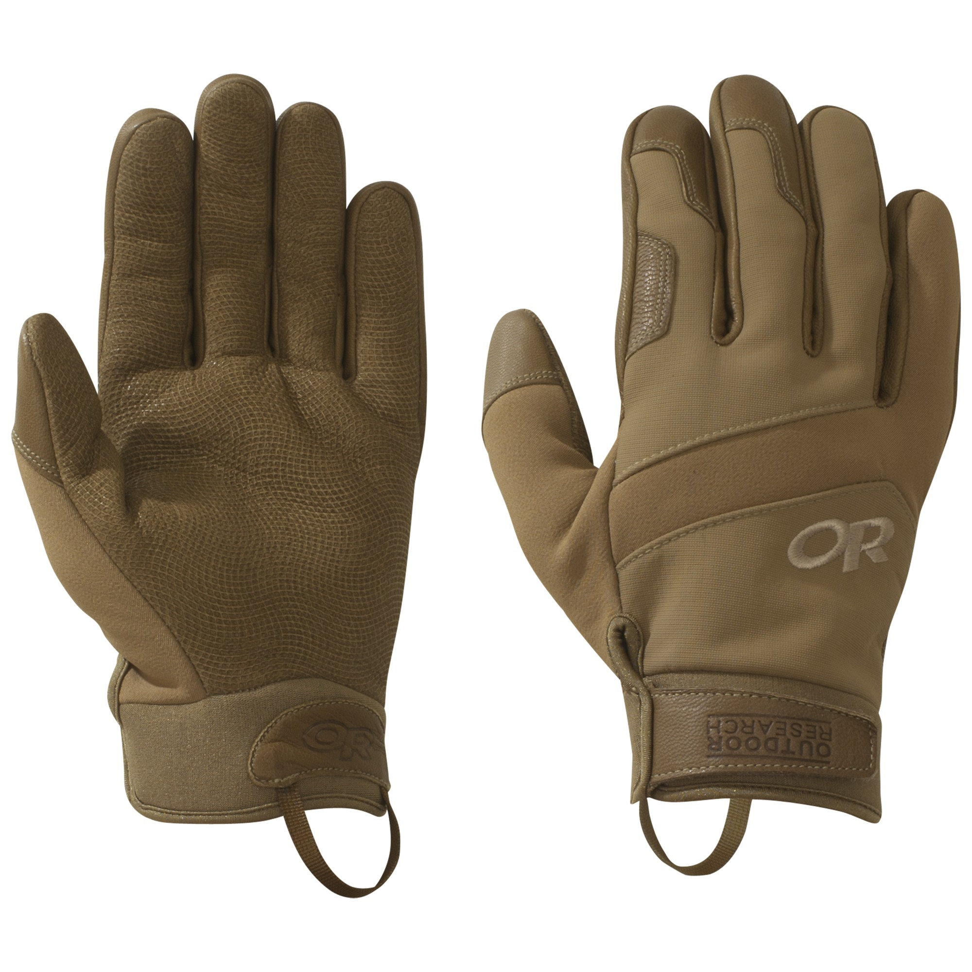 Mens leather gloves with cuff - Hover To Zoom