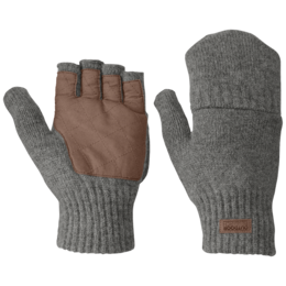OR Men's Lost Coast Fingerless Mitts pewter