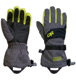 OR Kids' Adrenaline Gloves charcoal/black/lemongrass