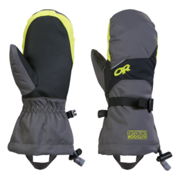 OR Kids' Adrenaline Mitts charcoal/black/lemongrass