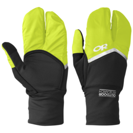 OR Hot Pursuit Convt Running Gloves black/lemongrass