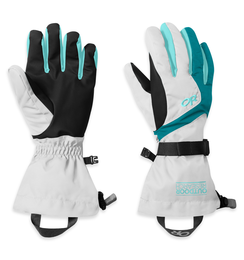 OR Women's Adrenaline Gloves white/alpine lake/pool