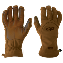 OR MGS Softshell Gloves Leather - USA coyote