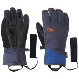 OR Illuminator Sensor Gloves cobalt/naval blue/burnt orange