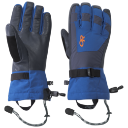 OR Men's Revolution Gloves cobalt/naval blue/burnt orange