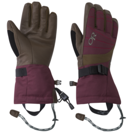 OR Women's Revolution Gloves zin/carob/tomato
