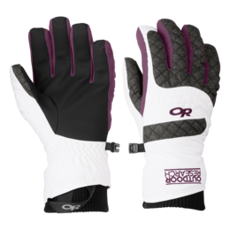 OR Women's Riot Gloves white/charcoal/orchid