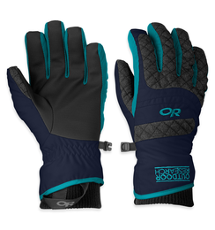 OR Women's Riot Gloves night/charcoal/alpine lake